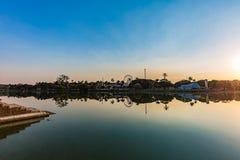 Belo Horizonte Minas Gerais, Brasilien Sikt av Pampulha sjön i s royaltyfria foton