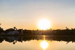 Belo Horizonte Minas Gerais, Brasilien Sikt av Pampulha sjön i s royaltyfri foto