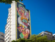 Mural by Spanish Artist, Marina Capdevila, in honour of the loca Royalty Free Stock Images