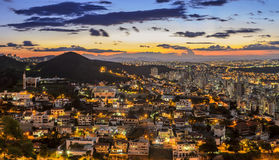 Belo Horizonte after sunset , Minas Gerais , Brazil . Stock Photos