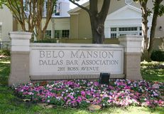 Belo Mansion Dallas, Texas. Long a favorite destination for Dallas party planners, the Belo Mansion`s intimate function rooms and elegant décor have served as stock image