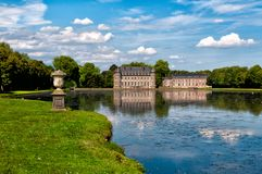 Beloeil castle in Belgium. View from the garden stock images