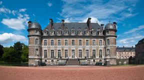 Beloeil castle in Belgium. View from the garden stock image