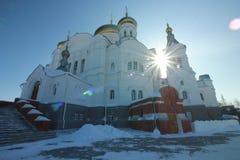 Belogorsky-Kloster Weißer Berg Permskiy Kray, Russland lizenzfreie stockfotos