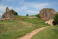 Belogradchik balanç a fortaleza Imagens de Stock Royalty Free