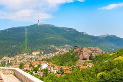 Belogradchik, Bulgaria town scenery with old houses red roofs Royalty Free Stock Photo