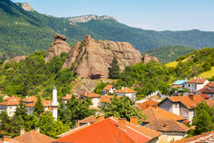 Belogradchik, Bulgaria town scenery with old houses red roofs Stock Photos