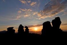 Belogradchik-Felsen bei Sonnenuntergang Stockbilder