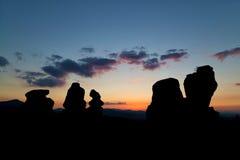 Belogradchik-Felsen bei Sonnenuntergang Lizenzfreie Stockfotografie