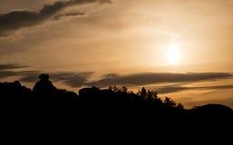 Belogradchik-Felsen bei Sonnenuntergang Stockfotos