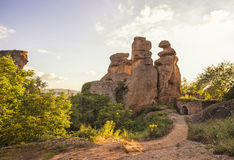 Belogradchik fortress inside Royalty Free Stock Photography