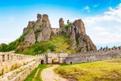 Belogradchik Kaleto, forntida fästning, turist- dragning Royaltyfria Foton