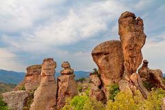 Belogradchik Rocks. Are a unique natural phenomenon, situated near the town of Belogradchik. Only when you see them live you really understand their uniqueness Stock Images