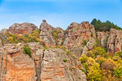 Belogradchik Rocks. Are unique rock formation, visited by many tourists in all seasons Stock Photos