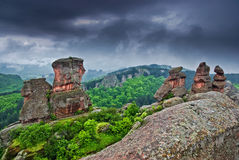Belogradchik Rocks, Bulgaria. The Belogradchik Rocks are a group of bizarre sandstone and limestone rock formations. At the moment is nominee for one of New 7 Royalty Free Stock Photos