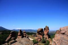 Belogradchik Rocks in Bulgaria, Europe stock images