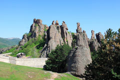 The Belogradchik Rocks. Are a group of rock formations with bizarre shapes. They are situated in the Balkan Mountains (Stara Planina) near the town of Royalty Free Stock Photos