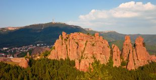Belogradchik Rocks Panorama Stock Photo