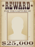 Belohnungs-Plakat Stockbilder