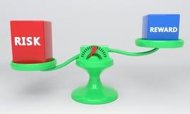 Belohnungs- und Risikoskalen, 3d Lizenzfreies Stockfoto