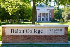 Beloit szkoła wyższa zakładał w 1846 Zdjęcie Stock