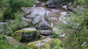 Belokurikha山河在阿尔泰边疆区。Russia.Belokurikha山河在阿尔泰边疆区。 股票录像