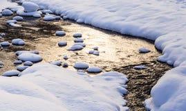 Belokurikha river in winter. Resort Belokurikha, Altai Stock Photography