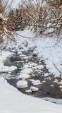 Belokurikha river in winter. Resort Belokurikha, Altai Stock Images