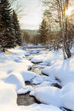Belokurikha river in winter. Resort Belokurikha, Altai Stock Photography