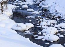 Belokurikha river in winter. Resort Belokurikha, Altai Royalty Free Stock Photography