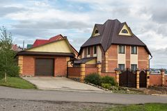 Private cottage in the city of Belokurikha resort Altai Krai Stock Photos