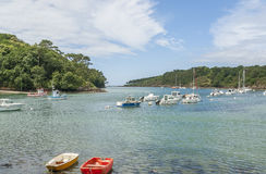 Belon River in Brittany Stock Photo