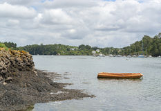 Belon River in Brittany Royalty Free Stock Photo