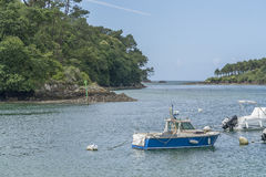 Belon River in Brittany Royalty Free Stock Image