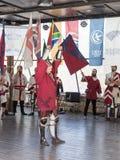 Belonend de Ridder - Winnaar bij de festival` Ridders van Jeruzalem ` in Jeruzalem, Israël royalty-vrije stock foto's