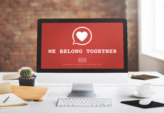 We Belong Together Valentine Romance Heart Love Passion Concept Royalty Free Stock Photos
