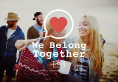 We Belong Together Valentine Romance Love Toast Dating Concept Stock Photo