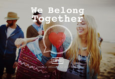 We Belong Together Valentine Romance Love Toast Dating Concept.  Royalty Free Stock Photos