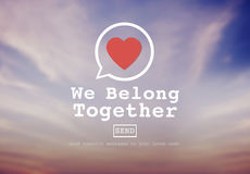 We Belong Together Valentine Romance Love Toast Dating Concept Stock Images