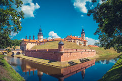 Belorussian attraction - castle in Nesvizh, Belarus. Stock Photography