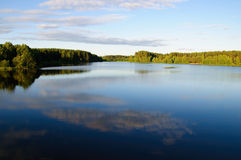 Belorussian azure lake Royalty Free Stock Image
