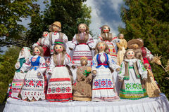 Belorussian dolls in national clothes. Traditional belorussian dolls in national clothes Royalty Free Stock Photos