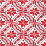 Belorussian etnisk prydnad, sömlös modell också vektor för coreldrawillustration Royaltyfri Fotografi