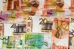 Belorussian pengar BYN Fotografering för Bildbyråer