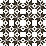 Belorussian sacred ethnic ornament, seamless pattern. Vector illustration. Slovenian Traditional Pattern Ornament.Black Stock Photography