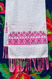 Belorussian towel with vintage ornament Stock Photo