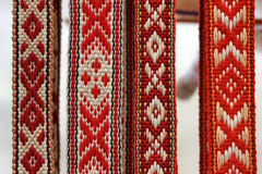 Belorussian traditional belts Royalty Free Stock Images