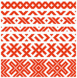 Belorussian traditional ornament two Stock Image