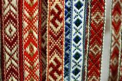 Belorussian traditionella bälten fotografering för bildbyråer