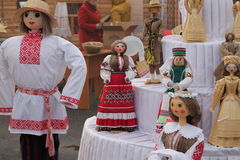 Belorussian traditions. Tradition bright  festival of the new harvset call: Dozhinki , November,13, 2015, Vileyka, Belarus Royalty Free Stock Image
